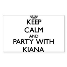 Keep Calm and Party with Kiana Decal