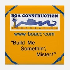 BOA original logo/gold Tile Coaster