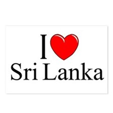 """I Love Sri Lanka"" Postcards (Package of 8)"