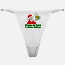 Christmas Not Wasted Classic Thong