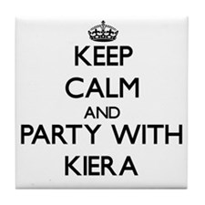 Keep Calm and Party with Kiera Tile Coaster