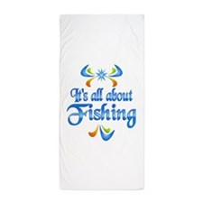 About Fishing Beach Towel