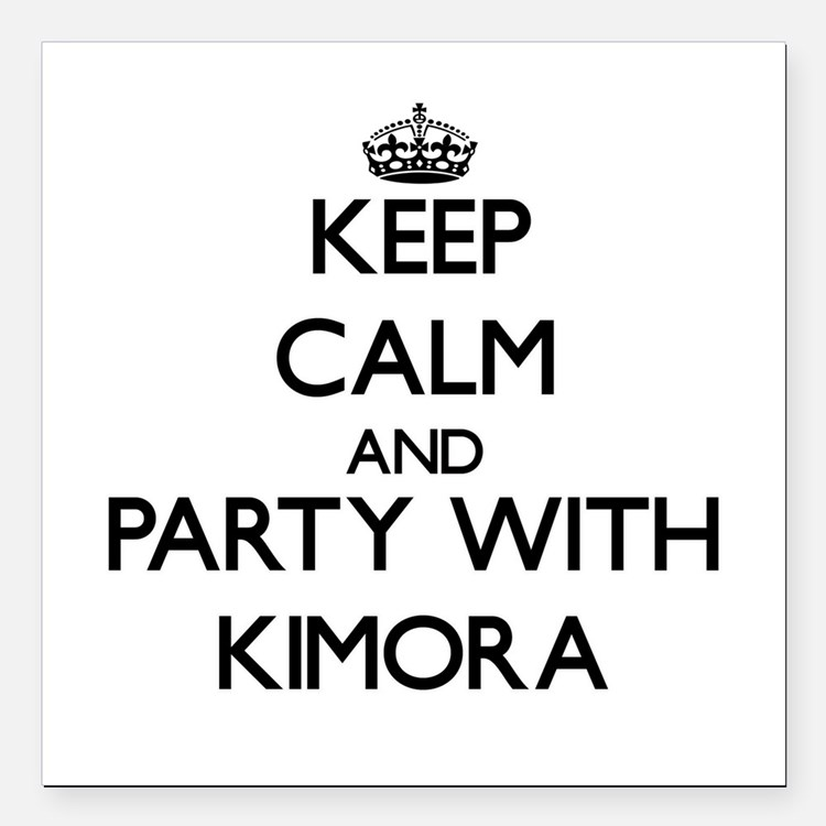 Keep Calm and Party with Kimora Square Car Magnet