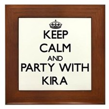 Keep Calm and Party with Kira Framed Tile