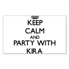Keep Calm and Party with Kira Decal