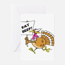 Eat Beef Greeting Cards