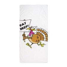 Eat Beef Beach Towel