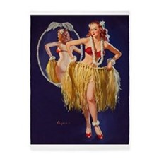 Pin Up Girl, Grass Skirt, Vintage Poster 5'X7'area