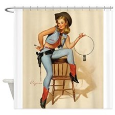 Pin Up Girl, Cowgirl, Sheriff, Jail, Vintage Poste