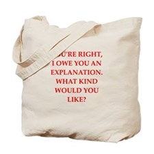 explanation Tote Bag