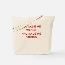 make me stomg Tote Bag
