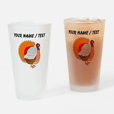 Custom Turkey Sketch Drinking Glass