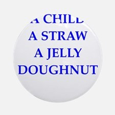 jelly doughnut Ornament (Round)