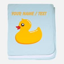 Custom Rubber Duck baby blanket