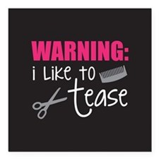 "I like to tease Square Car Magnet 3"" x 3"""