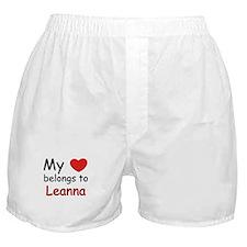 My heart belongs to leanna Boxer Shorts