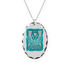 Interstitial Cystitis Hope Necklace Oval Charm