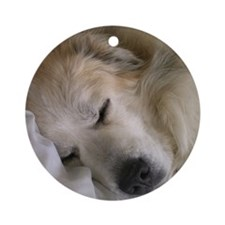 great pyrenees Round Ornament