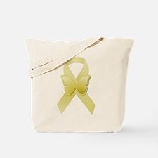 Yellow Awareness Ribbon Tote Bag