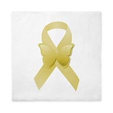 Yellow Awareness Ribbon Queen Duvet