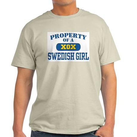 Property of a Swedish Girl Ash Grey T-Shirt