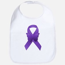 Purple Awareness Ribbon Bib