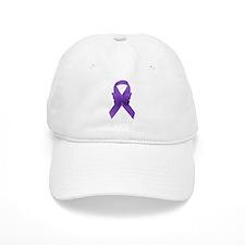 Purple Awareness Ribbon Baseball Cap