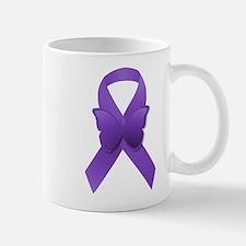 Purple Awareness Ribbon Mug