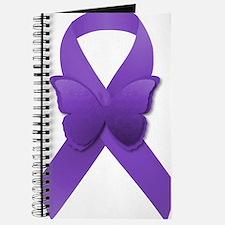 Purple Awareness Ribbon Journal