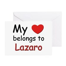 My heart belongs to lazaro Greeting Cards (Package