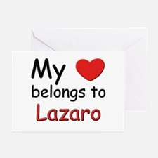 My heart belongs to lazaro Greeting Cards (Package