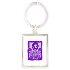 Chiari Malformation Hope Portrait Keychain