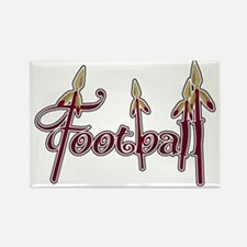 garnet and gold football Rectangle Magnet