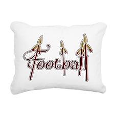 garnet and gold football Rectangular Canvas Pillow