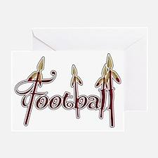 garnet and gold football Greeting Card