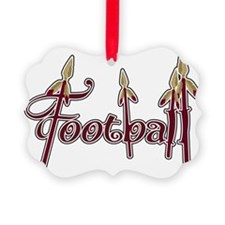 garnet and gold football Ornament