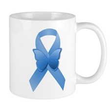 Blue Awareness Ribbon Small Mugs