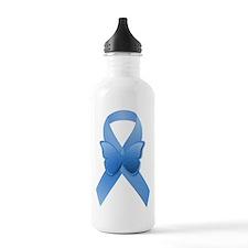 Blue Awareness Ribbon Water Bottle