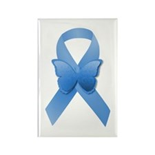 Blue Awareness Ribbon Rectangle Magnet