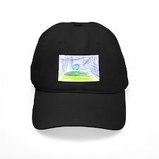 """Blue Golf Ball on Grassy Hil Baseball Hat"