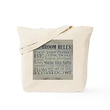 bathroom rules Tote Bag