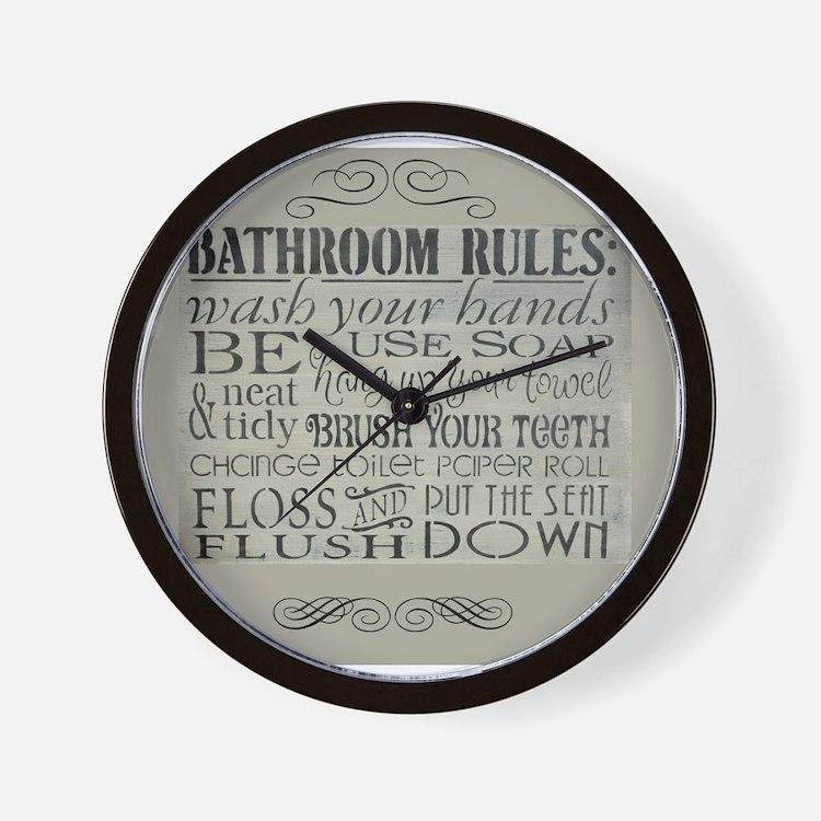 bathroom rules Wall Clock. Bathroom Clocks   Bathroom Wall Clocks   Large  Modern  Kitchen Clocks