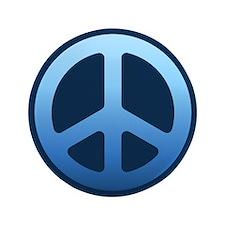 """Indigo Fade Peace Sign 3.5"""" Button"""