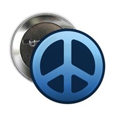 "Indigo Fade Peace Sign 2.25"" Button"