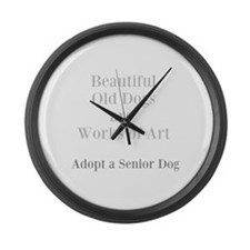 Beautiful old dogs Large Wall Clock