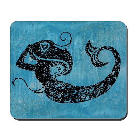 mermaid-worn_12x18 Mousepad