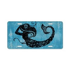 mermaid-worn_12x18 Aluminum License Plate
