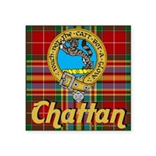 "chattan12x12b Square Sticker 3"" x 3"""