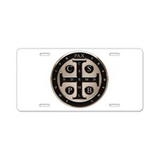 St. Benedict Medal Aluminum License Plate