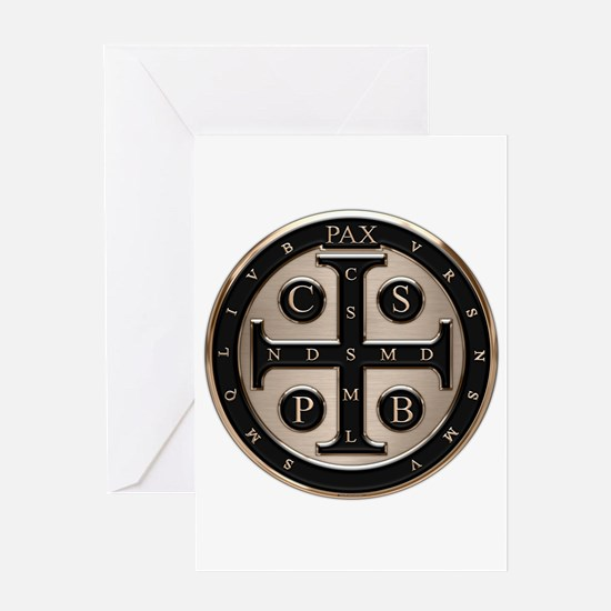 St. Benedict Medal Greeting Cards